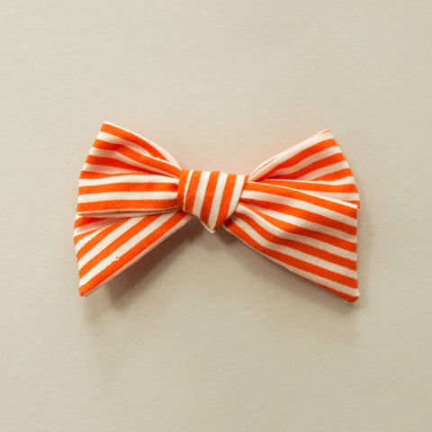 Orange striped Elloise bow - Fall
