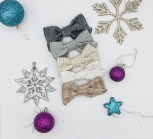 Shimmer linen Elloise 2.0 bow - o holy night