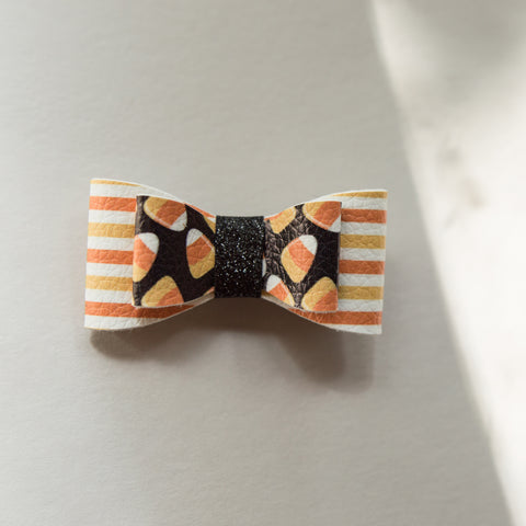 Candy corn stripe 2.5 inch - Fall - Ember bow