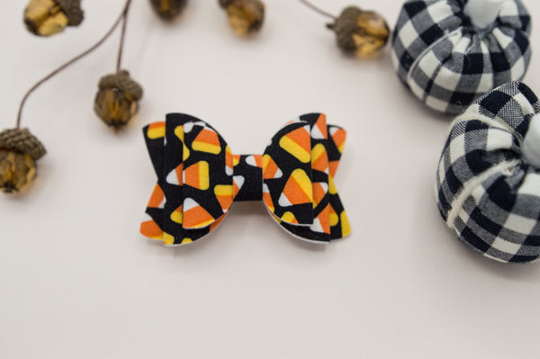 Fall candy corn cotton Quinnlee Bow - Ag2
