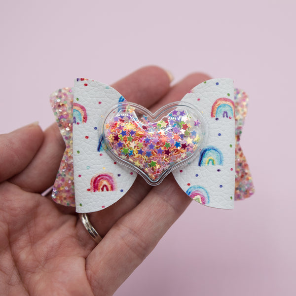 Rainbow dots heart Shake Layla Bow - CSS
