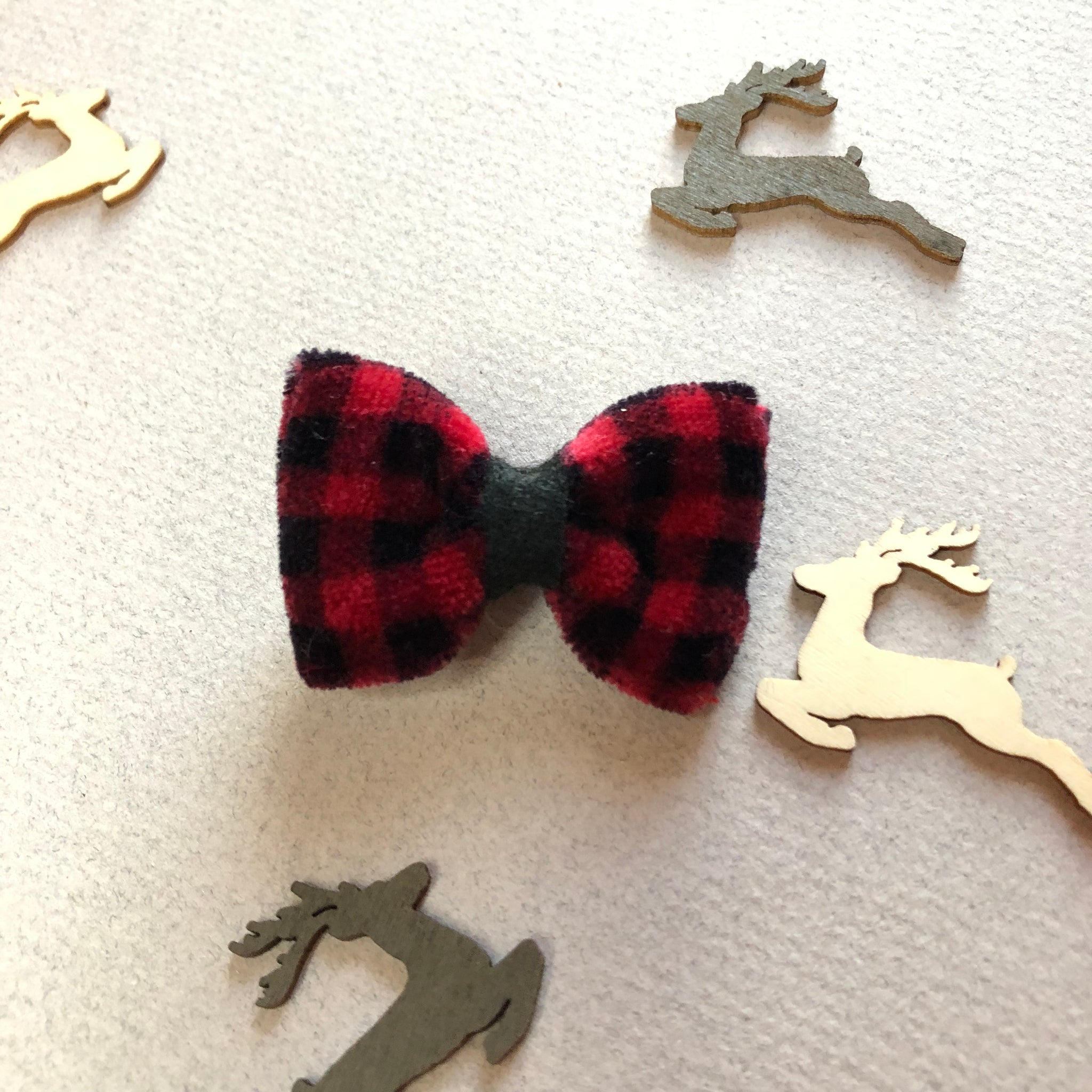 Vintage Velvet buffalo plaid - 2 inch