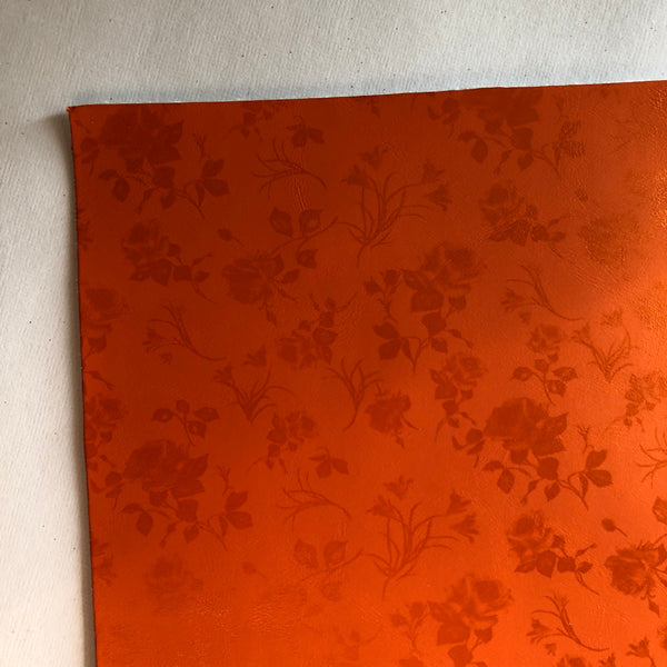 Orange floral leather - fall