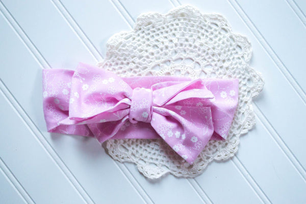 Bubblegum flowers // Vintage headwrap