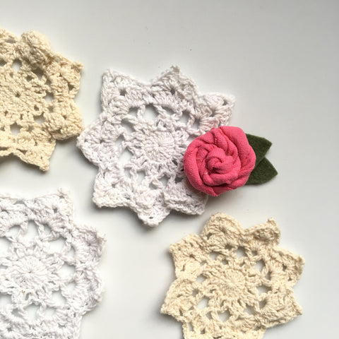 1.25 inch vintage cotton rose