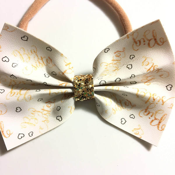 Little sister or Big sister bow 3 inch