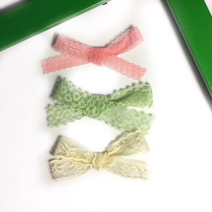 Set of 3 bows or one lace bow