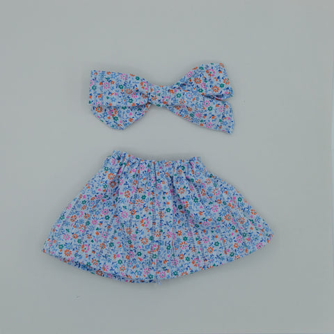 Vintage tiny blue florals Skirt - ATD