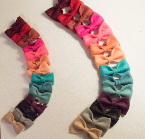 Jan - mini felt bows