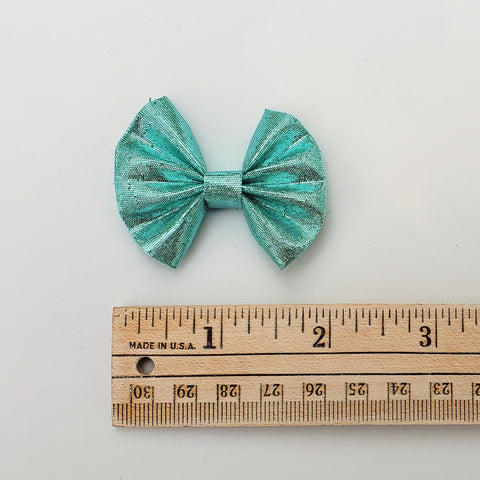 Vintage seafoam shimmer Mermaid FAN bow