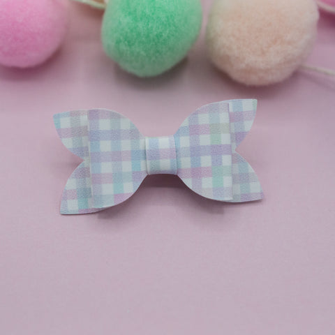 Pastel plaid Zoe Bow - HOPE SS3