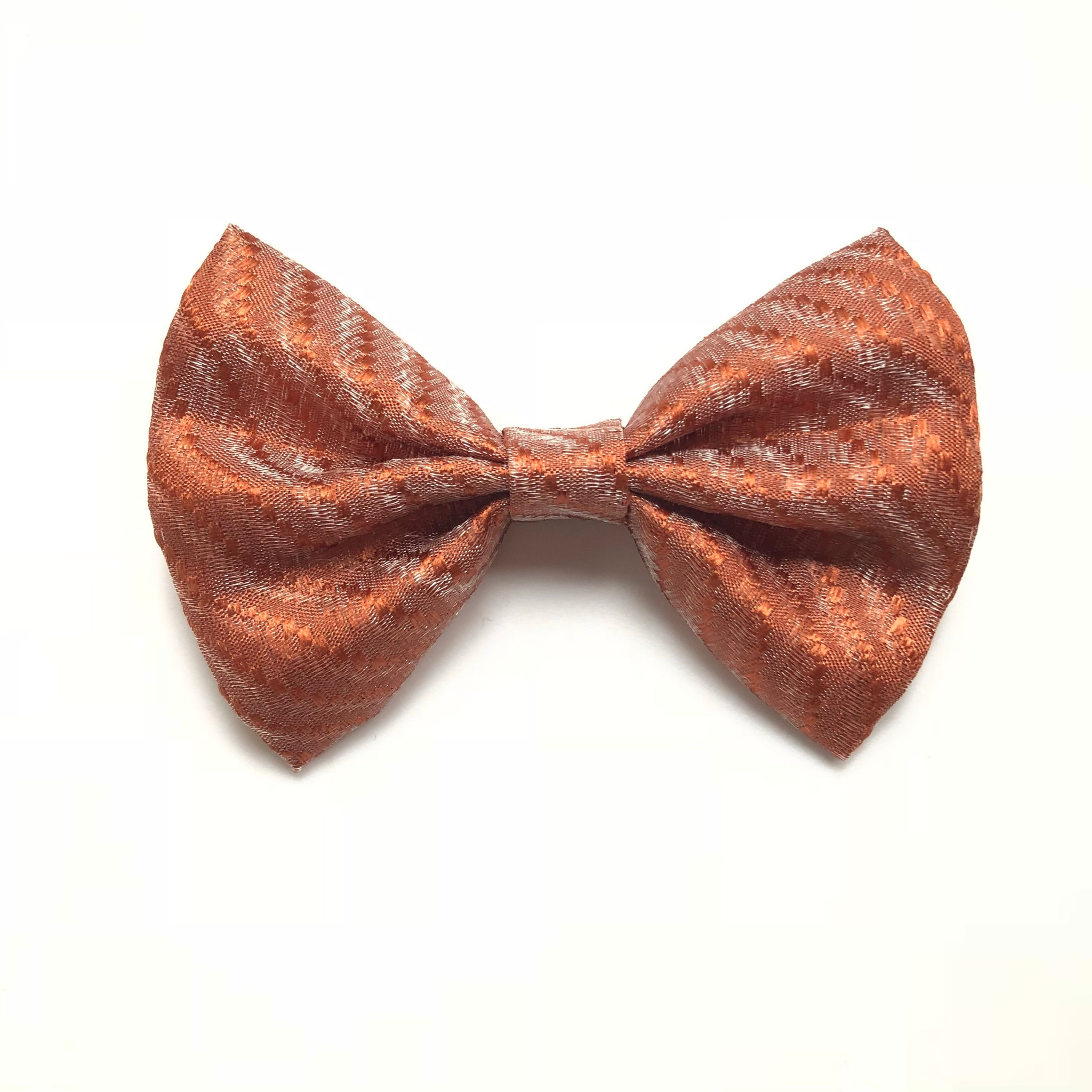 4 inch fall bronze shimmer bow