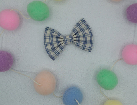 Vintage blue plaid bow tie - HOPE