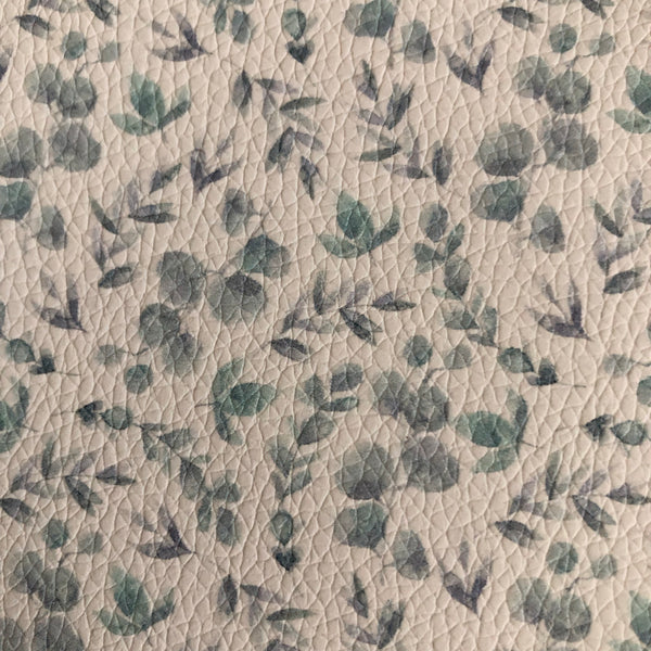 Summer Eucalyptus faux leather