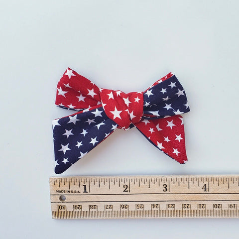 Summer red blue stars Elloise bow