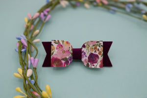 Magenta Floral Mila bow - HOPE SS3