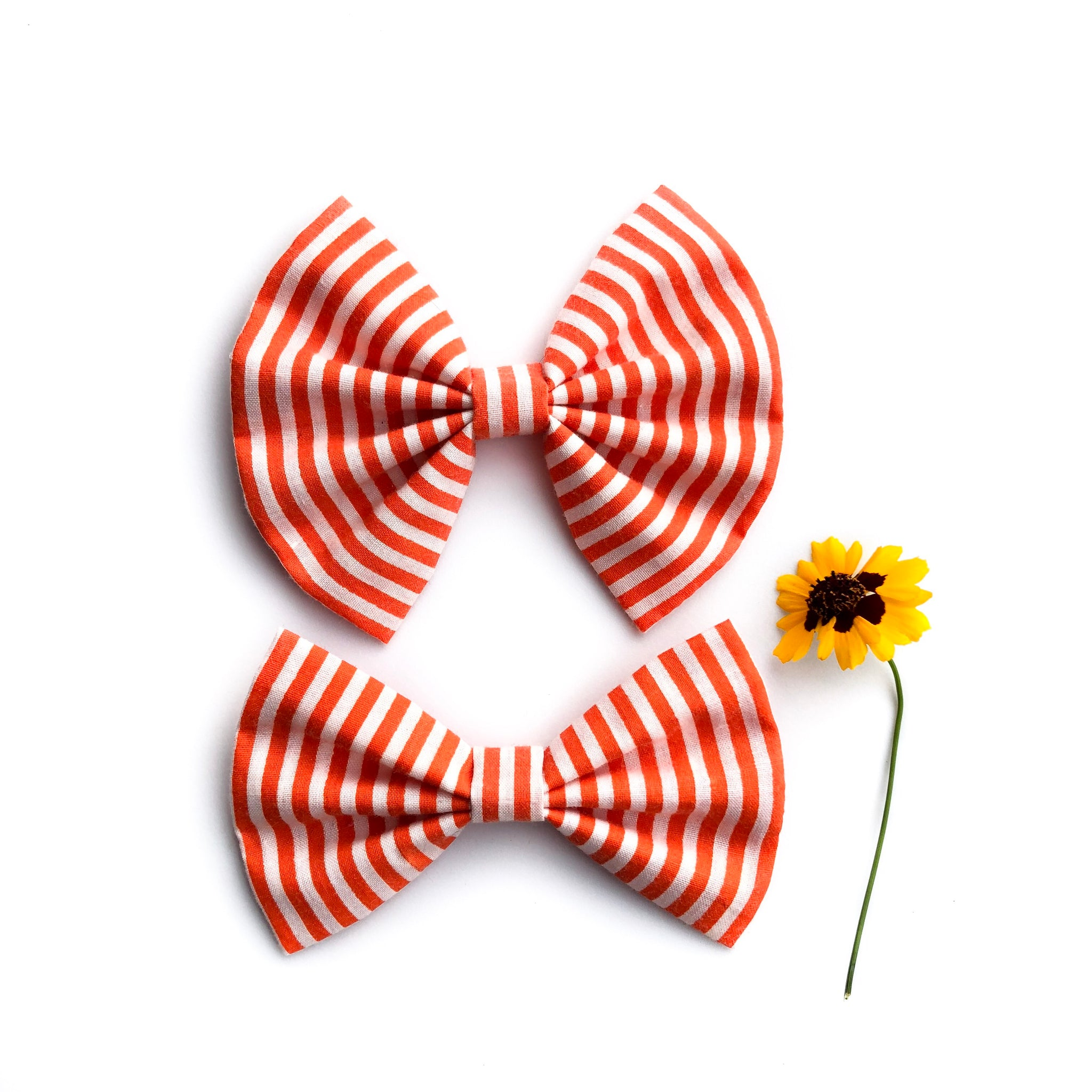 Fall stripes bow