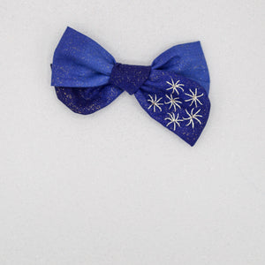 Blue fireworks embroidered River bow- LFR