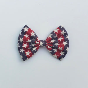 Star spangled stripes classic bow (blue-red)