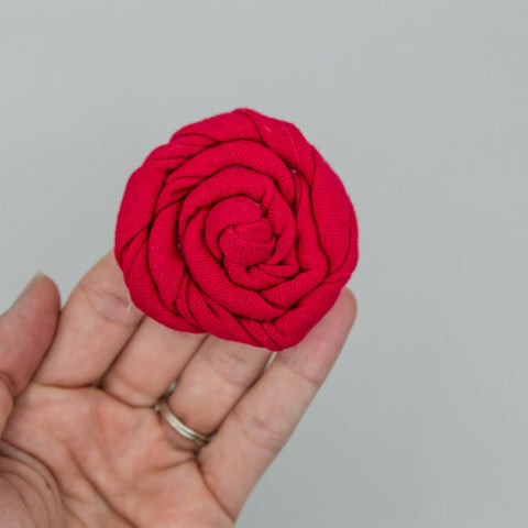 2 inch red cotton rose - ATD kind