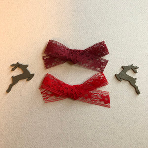 Set of 2 lace bows or One