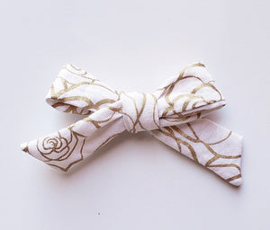 Golden rose Elloise bow