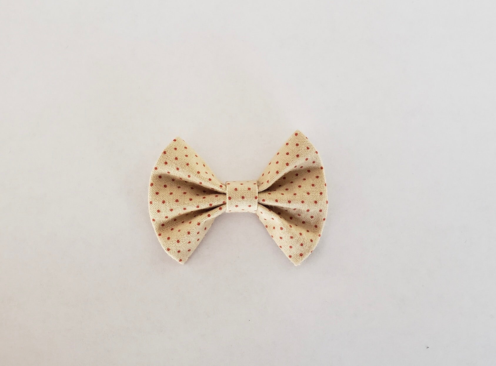 Vintage red dot 2 inch bow