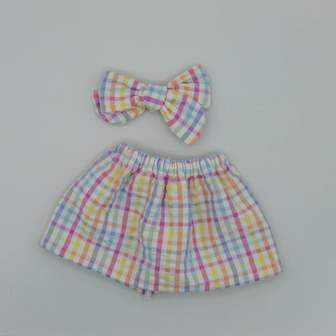 Vintage Gingham pink & blue Skirt - ATD