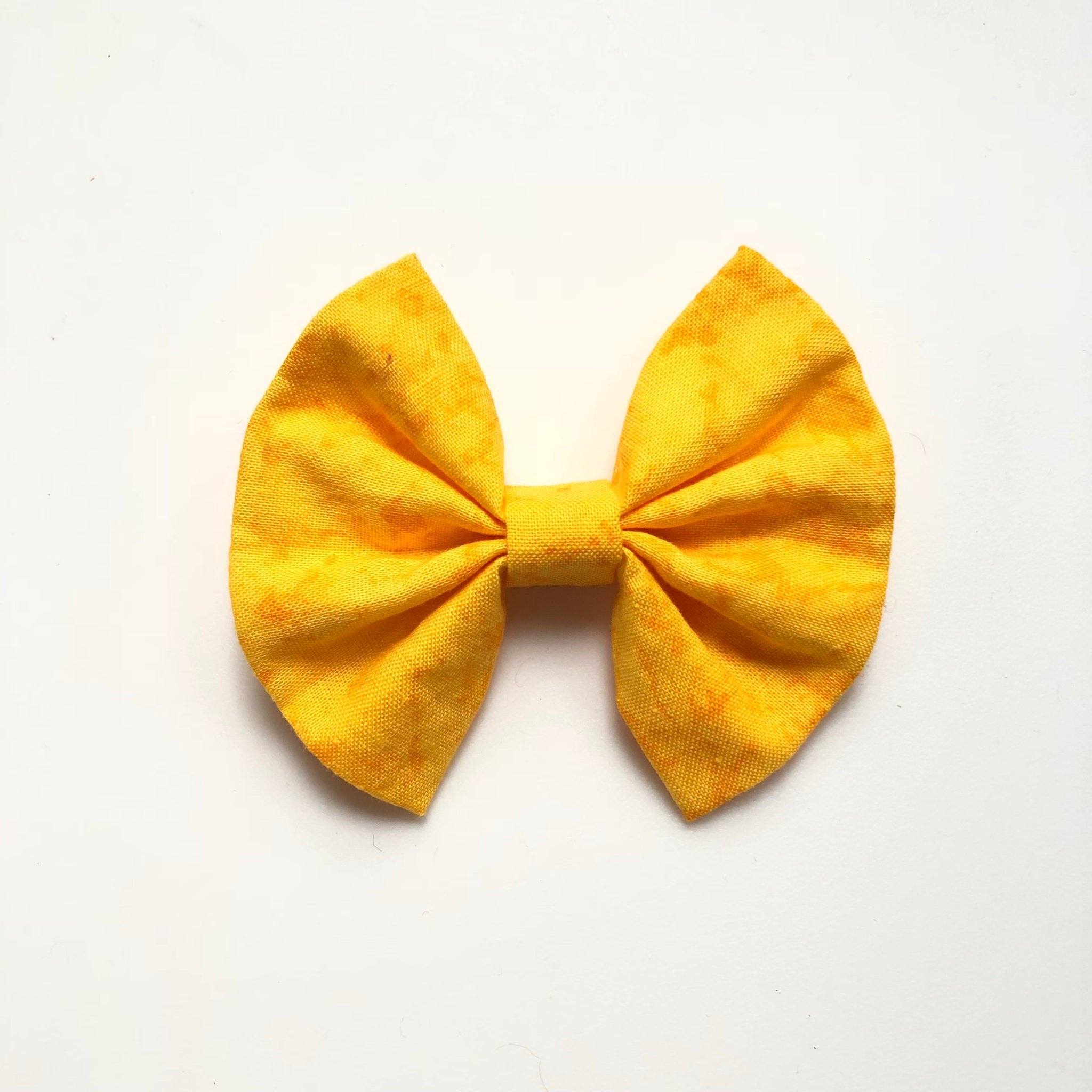 Bright yellow fall floral bow