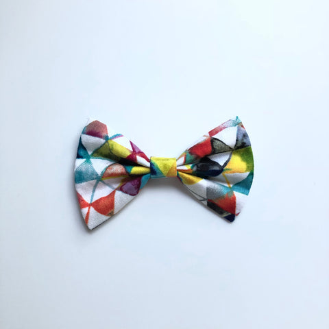 Watercolor triangles Elloise bow