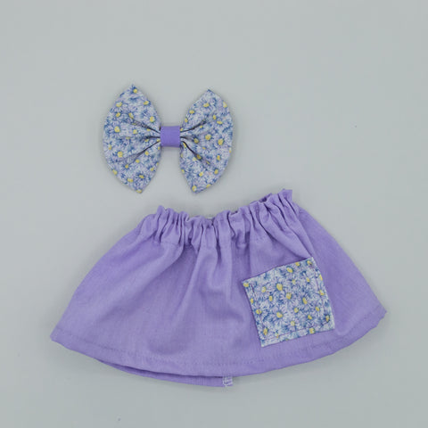 Vintage purple skirt with pocket Skirt - ATD