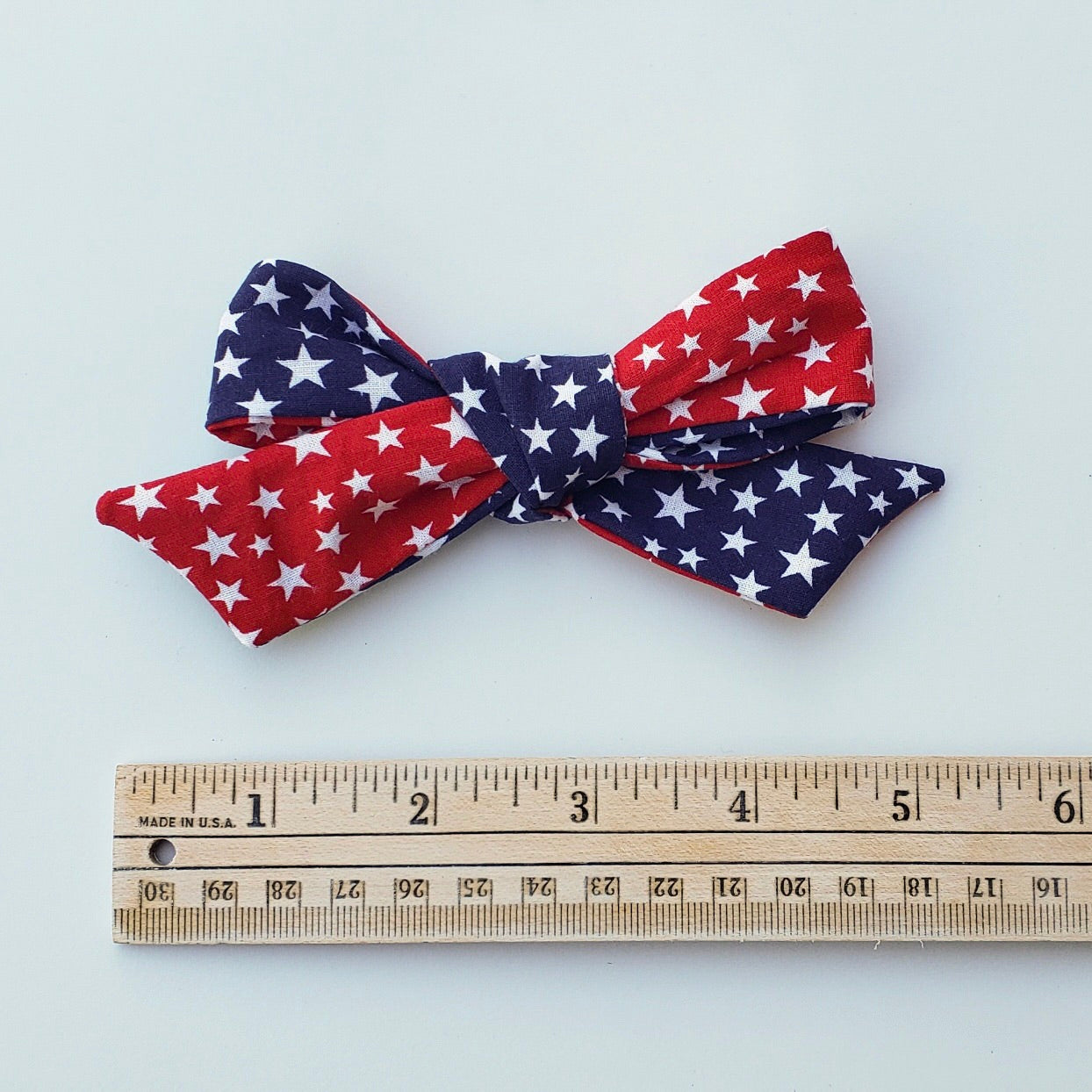 Summer red/blue stars River bow
