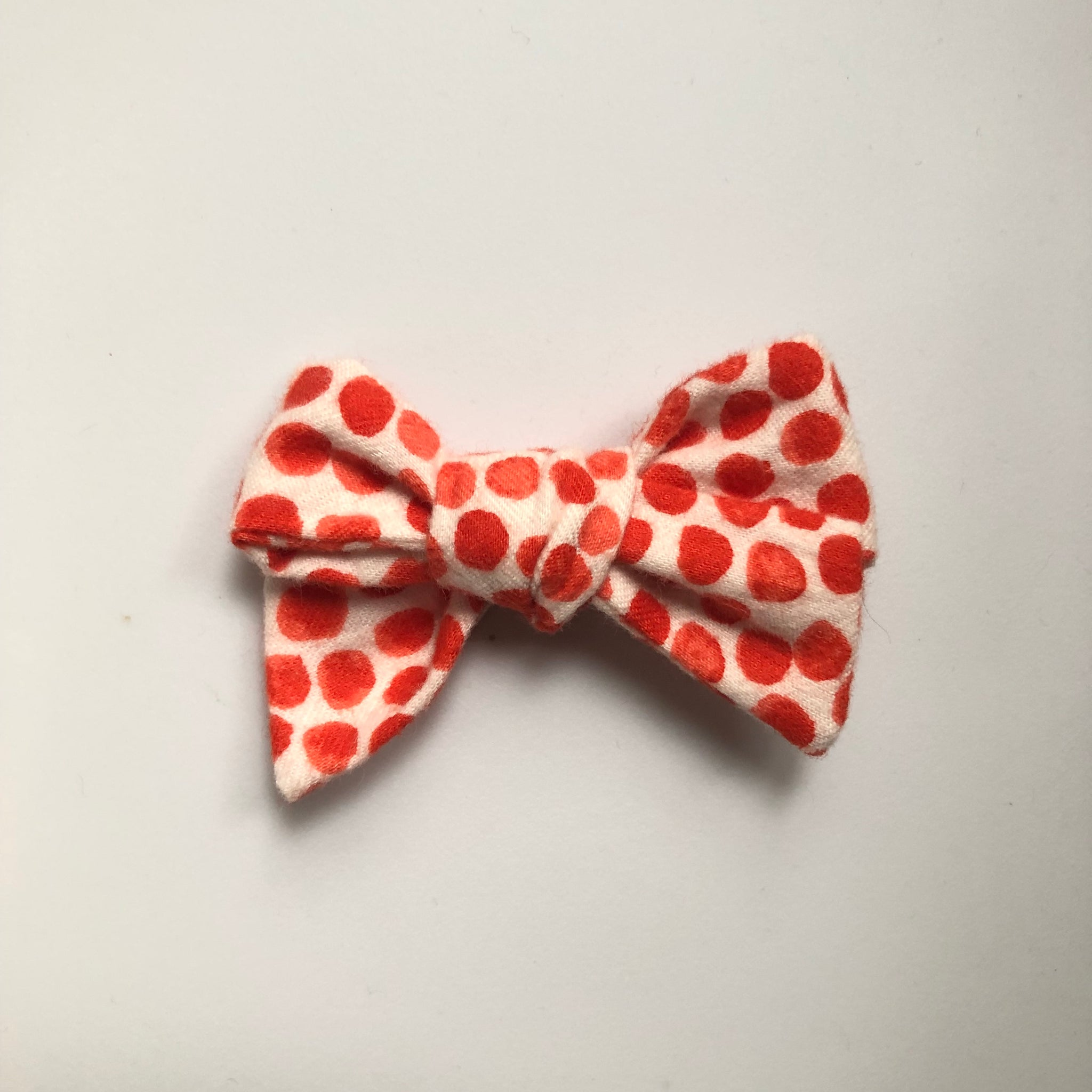 Flannel orange dots Elloise bow