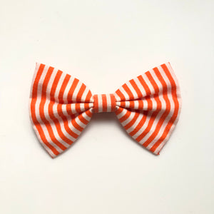 4 inch fall orange stripe bow