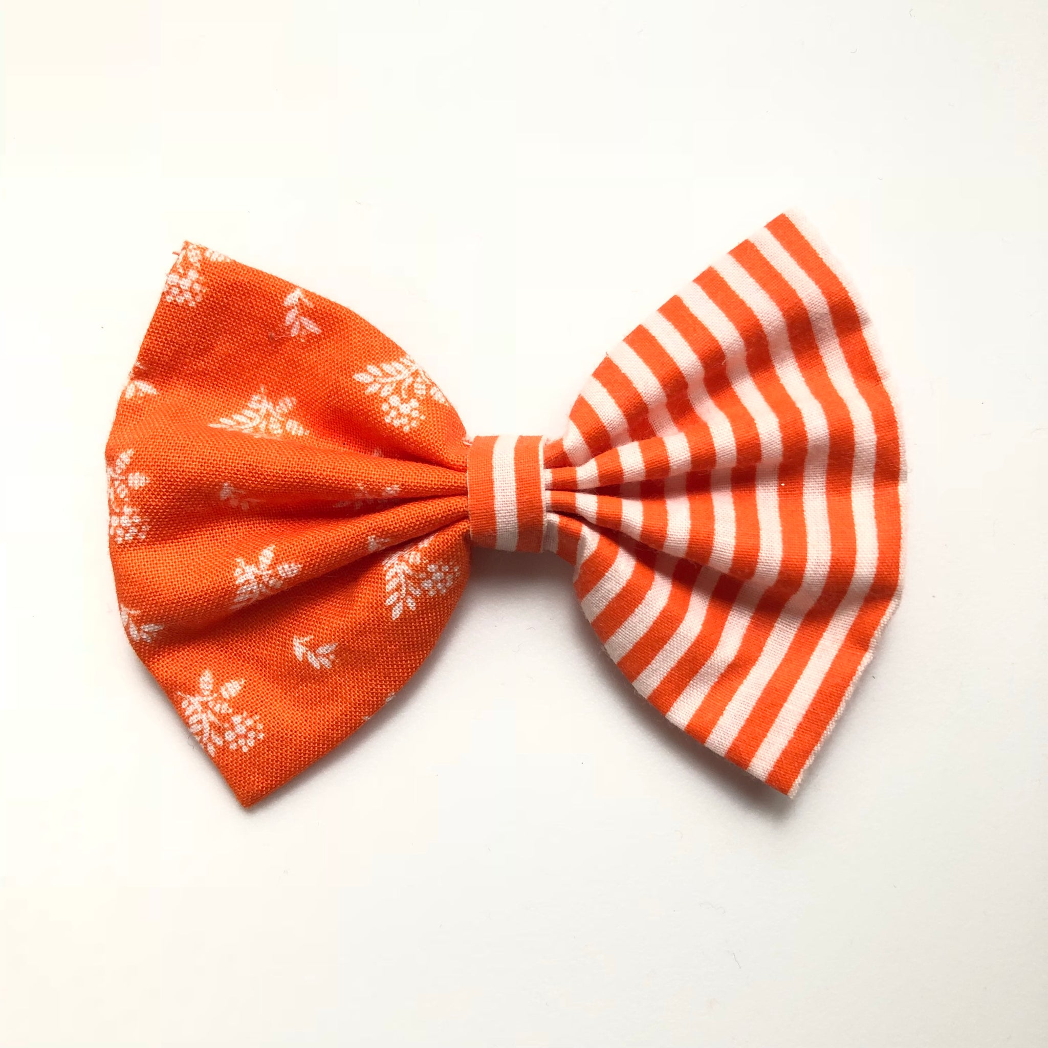 Copy of 3 inch fall orange plaid and floral bow