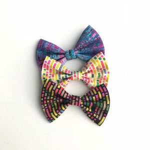Summer July bow tie style Tetris