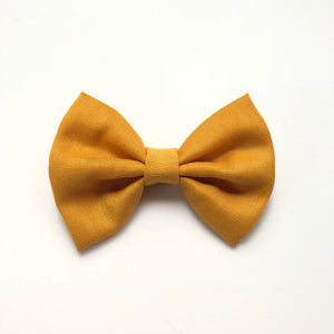 mustard yellow fall cotton bow
