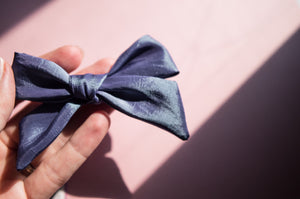 Summer blue iridescent mermaid Elloise bow