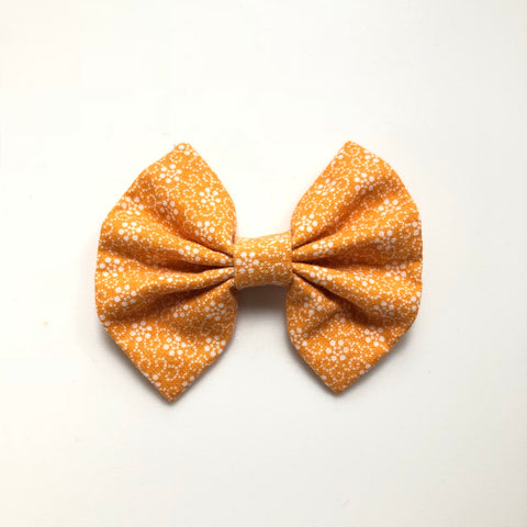 Fall light orange floral bow