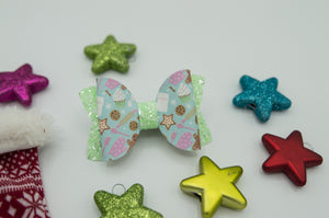Mint gingerbread Layla bow - Hoc