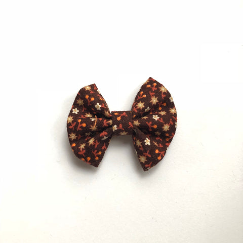 2 inch fall brown floral bow