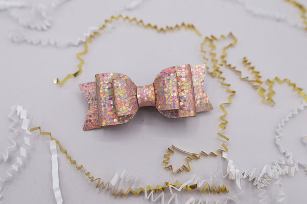 Rose gold sequin double Mila Bow - 2020