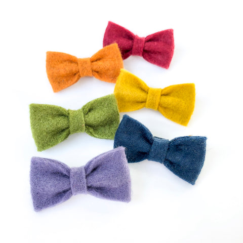 Fall SMALL felt bows