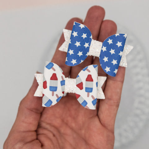 Stars and popsicles Ember bow SET 2.5 inch - LFR