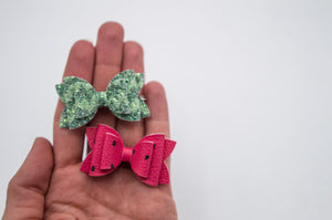 Watermelon Juniper bow SET 2.5 inch -CSS
