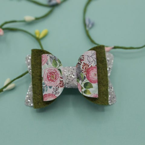 Peonies Deco Quinnlee Bow - HOPE
