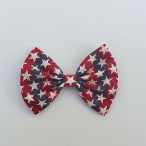 Star spangled stripes classic bow (red-blue)