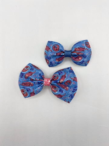 I 💙 Otters 3.5 inch bow or 3 inch bow tie  -CSS2
