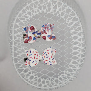 USA ice cream sprinkle Juniper bow SET 2.5 inch - LFR