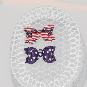 Stars and Stripes Juniper bow SET 2.5 inch - LFR